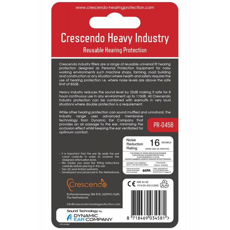Беруши Crescendo Heavy Industry