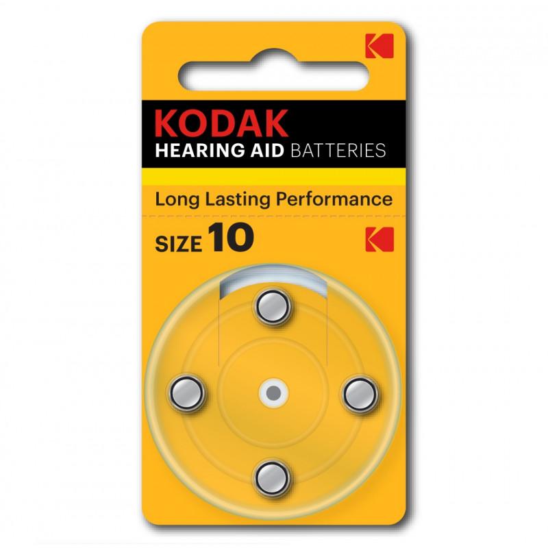 Батарейки для слуховых аппаратов Kodak 10, 4 шт.