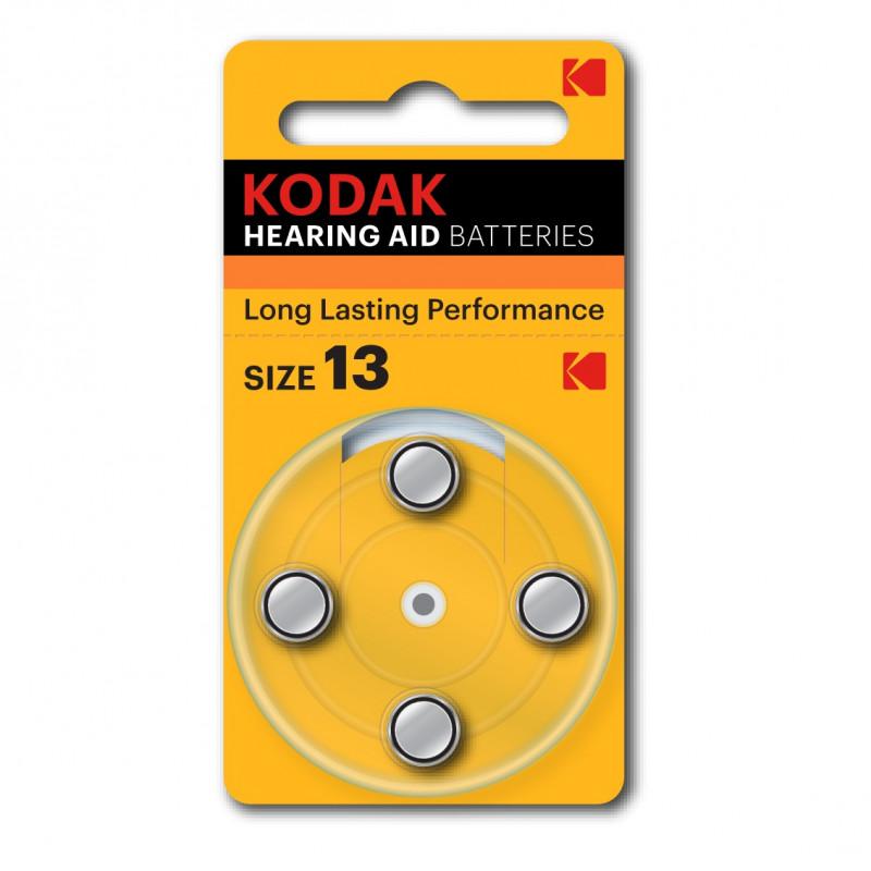 Батарейки для слуховых аппаратов Kodak 13, 4 шт.