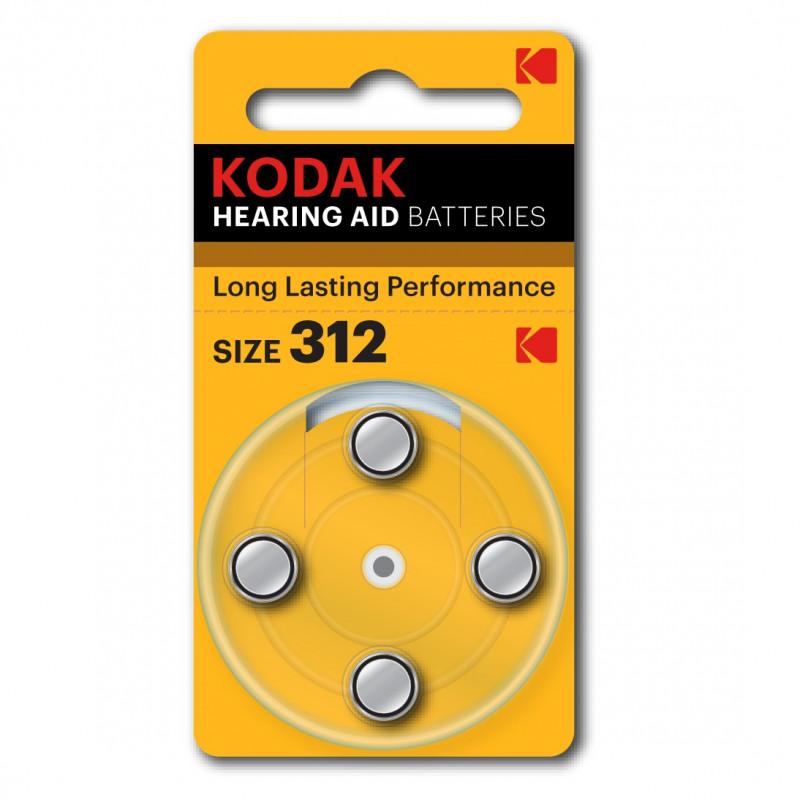 Батарейки для слуховых аппаратов Kodak 312, 4 шт.
