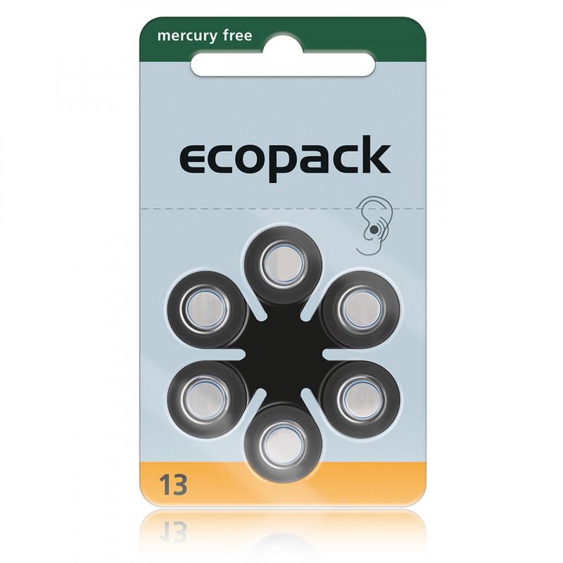 Батарейки для слуховых аппаратов Ecopack 13, 6 шт.