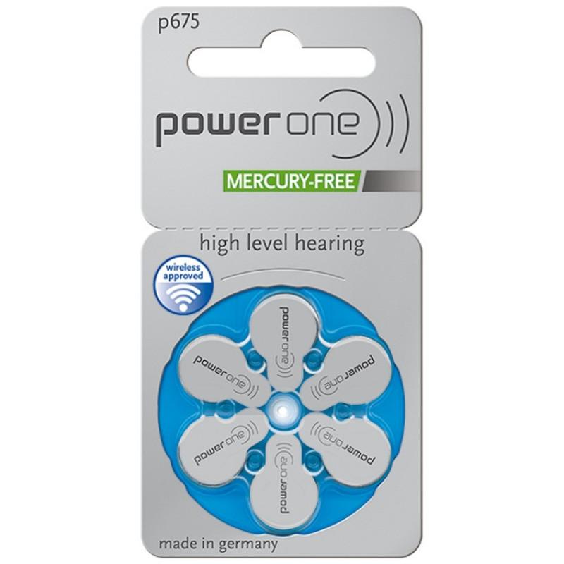 Батарейки для слуховых аппаратов Power One 675, 6 шт.
