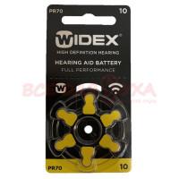 Батарейки для слуховых аппаратов Widex 10, 6 шт.