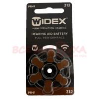 Батарейки для слуховых аппаратов Widex 312, 6 шт.