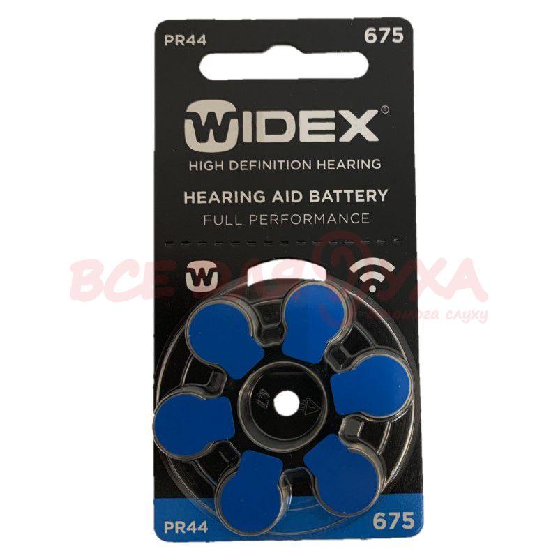 Батарейки для слуховых аппаратов Widex 675, 6 шт.