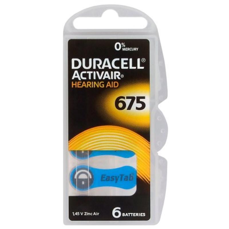 Батарейки для слуховых аппаратов Duracell 675