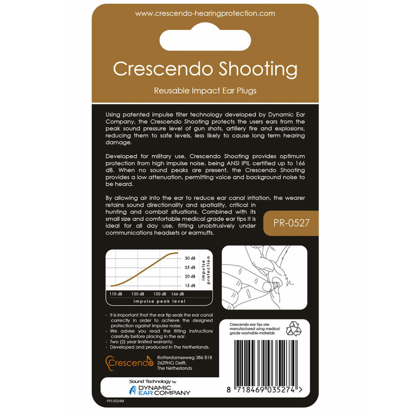 Беруши Crescendo Shooting