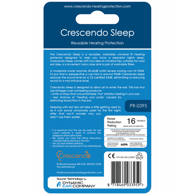Беруши Crescendo Sleep