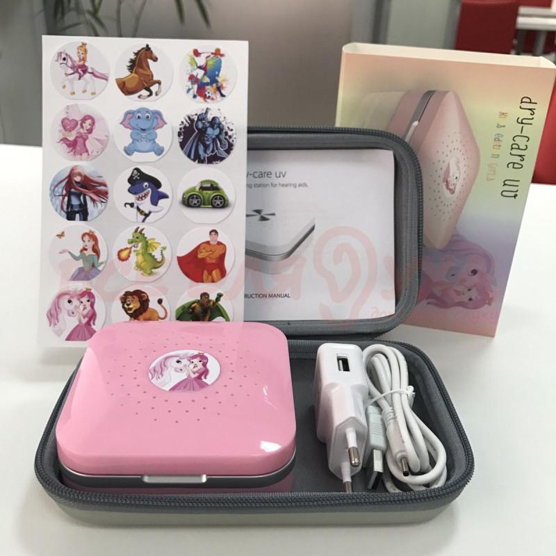 Устройство для сушки, дезинфекции и хранения Dry-Care UV – Kids edition pink