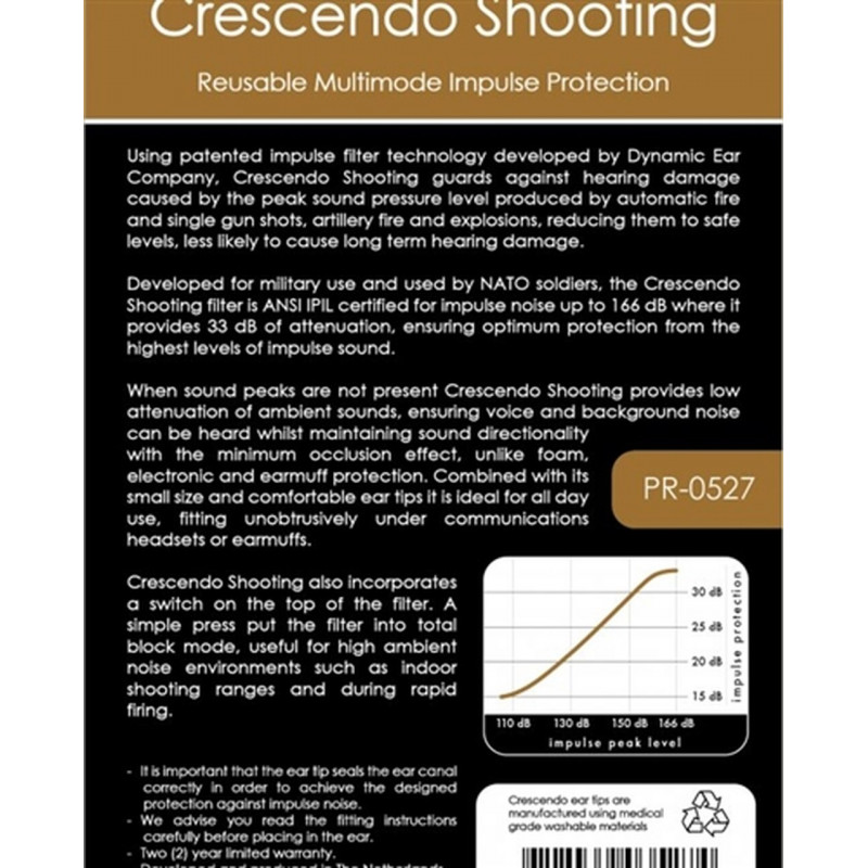Беруши Crescendo Shooting Multimode
