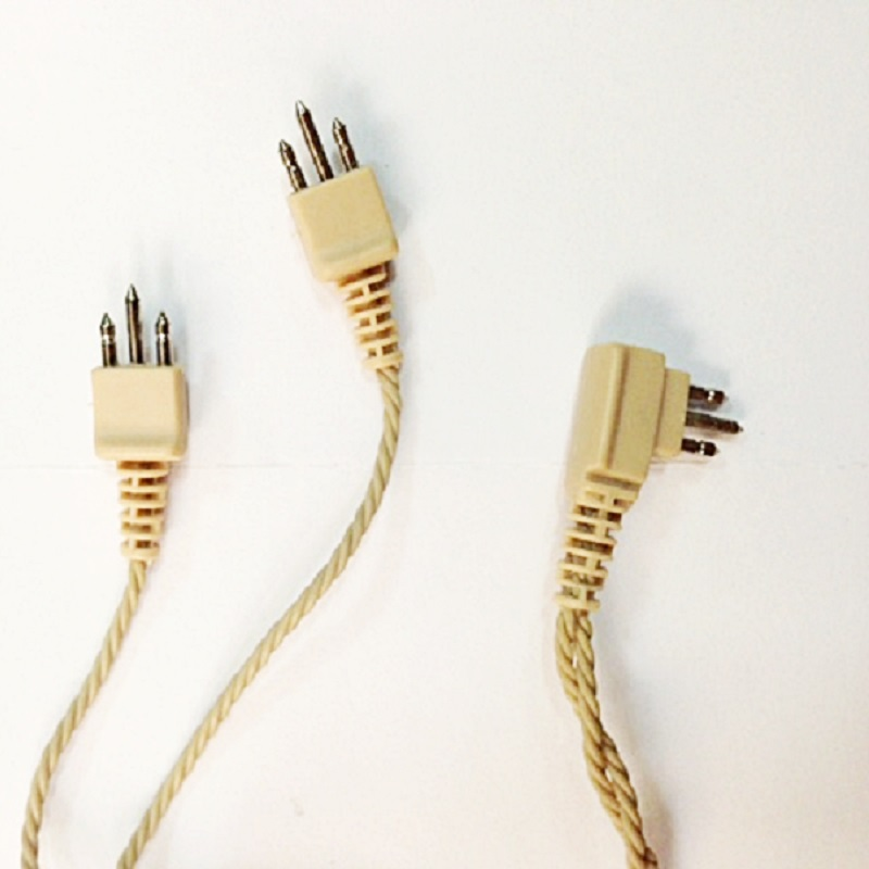 Шнур для слухового аппарата 3 pin на два уха